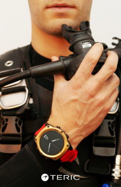 LE 2020 Teric Air Integrated Dive Computer with Color Strap