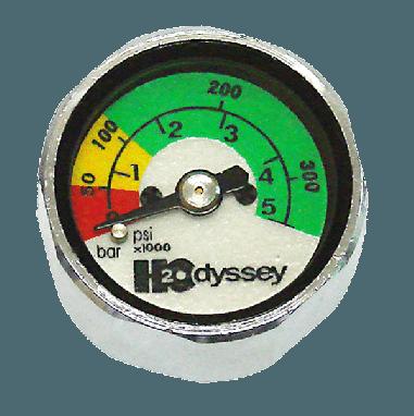 Mini PSI/BAR Button Gauge