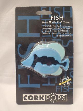 Cork Pops Fish Wine Bottle Foil Cutter