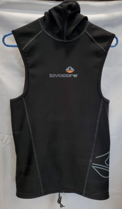 Used Men's Lavacore Hooded Vest - Size Small