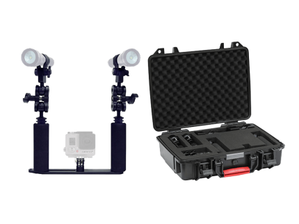 Camera Tray Kit W/ Two lights and Hard Case