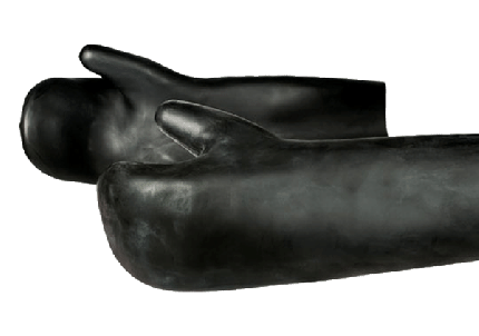 Latex 2 Finger Mitten