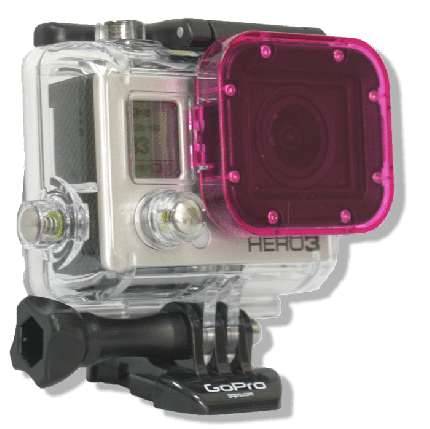 Hero 3 Magenta Dive Filter