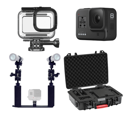 Hero8 Package with Lights and Case
