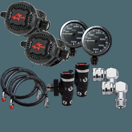 Hog D3 Sidemount  Regulator Package
