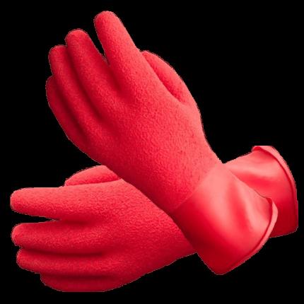 Red Textured Heavyweight Gloves