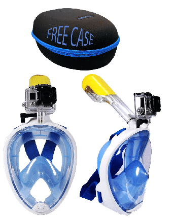 Full Face Snorkeling Mask with Go Pro Mount