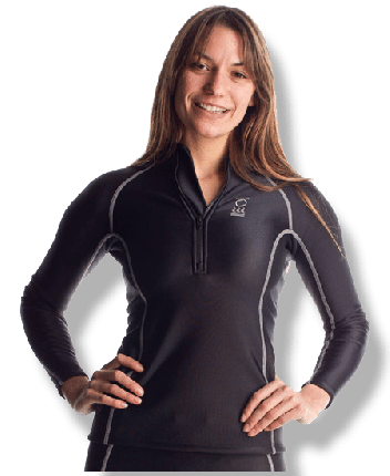Thermocline Womens Long Sleeve Zipped Shirt