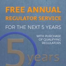 Regulator Service for 5 Years!