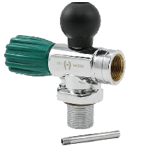 TV-6800 – 300 BAR Valve with Post and Rubber Boot -Green