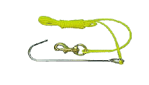 """Reef Hook with 50"""" Line and Clip"""
