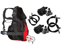 SMS BCD and Regulator Sidemount Package