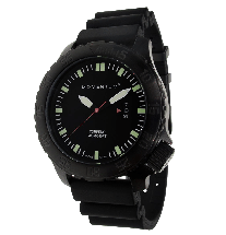 Torpedo Black Dive Watch -Ion Rubber