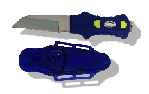 Angled Dive Knife with Hard Case